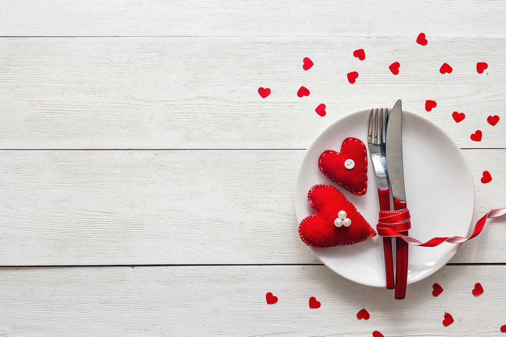 Valentinstag Mahlzeit für zwei